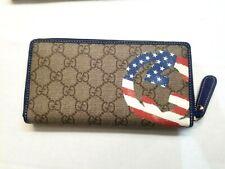 NIB Gucci Limited Edition GG Plus Monogram USA Flag Zip Around Wallet 304196