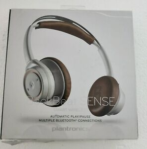 Plantronics Backbeat Sense - Smart Wireless Headphones with MIC (White/Tan)
