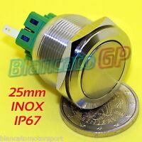 PULSANTE SPDT MONOSTABILE 25mm ACCIAIO INOX 316L IP67 IK10 DEVIATORE push button