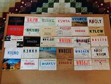 Unique Vintage 1960's 53 Piece Lot of All 50 States QSL Ham/CB Radio Call Cards