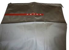 AUTHENTIC PRADA GRAY with Red and white Logo 15x15 DUST BAG ! A MUST HAVE!