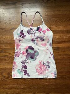 Lululemon Power Y Tank Women's Blurred Blossom Athletic Activewear Top Size 6