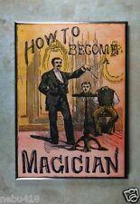 "Vintage Style Magick Book Cover  Fridge Magnet 2 1/2"" x 3 1/2"" Headless Man"