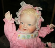 10-in porcelain baby doll, marked Yolanda Bello, no damage, No Box No Coa