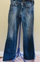 7 FOR ALL MANKIND Women's Jeans Size 25 Boot Cut Medium Wash Light Blue Denim