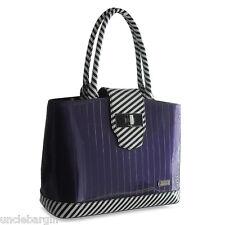 Serenade Purple Piano Gloss Genuine Leather Handbag (H89-9956)