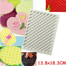 Quilting Silicone Fondant Embosser Mould Cake Decor Sugarcraft Icing Mold Mat