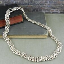 Milor Italy Sterling Silver Fancy Link Necklace