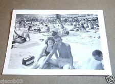 "MAN & WOMAN SMOKING CIGARETTES ON THE BEACH - CIRCA 1940's - 3.5"" by 2.5"" B&W"