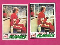 1977-78 OPC / TOPPS  # 17 FLAMES WILLI PLETT   ROOKIE  CARD  (INV# C3451)