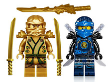LEGO NINJAGO GOLDEN NINJA LLOYD & JAY MINIFIGURE SETS DRAGON SWORD MECH MASTERS