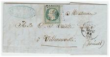 France cover 1854 Marseille to Villeuvette
