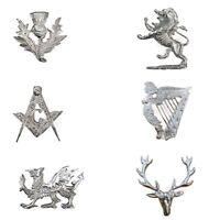 Hat Badges Glengarry Cap Chrome Finish Balmoral Cap Badges Metal/Highlander Caps