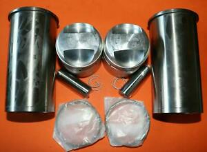 TRIUMPH 500 T100 ALLOY BARREL STD PISTONS AND LINERS SET 70-3615 FS.2543 UK MADE