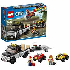 LEGO 60148 City ATV Race Team Pickup Truck With Trailer Hitch Building Toy Set