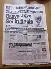 GAZZETTA dello SPORT 21/4/1983 Coppa dei Campioni: la Juventus in finale