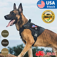 NEW Tactical Dog Vest Harness – Military K9 Dog Training Vest –Working Dog+Flag