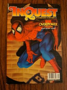InQuest Magazine Sept 1995 Used Marvel OverPower Review Spider-Man
