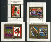 Equatorial Guinea Olympic Games Innsbruck Montreal 1976 Serie Set of 4 Stamps