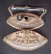 Vintage Dover No 802 Sad Iron with Removeable Handle Childs Salesman Sample