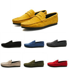 Mens Suede Loafers Leisure Colorful Moccasins Gommino Flat Driving Shoes Vogue