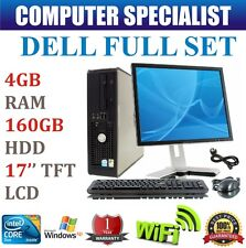 COMPLETE DELL DESKTOP PC INTEL CORE 2 DUO 4GB RAM DDR2 160GB HDD 17'' LCD TFT XP