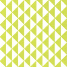 Lime - Mono Flying Geese - 100% Cotton Fabric Geometric Dressmaking Quilting
