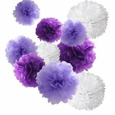 18pcs Tissue Hanging Paper Pom-poms, Hmxpls Flower Ball Wedding Party Outdoor &