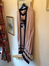 New Alice By Temperley Pink & Black Cabaret Triple Bow Knitted Poncho Cape,Large