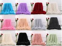Large Soft Warm Bed Sofa Throw Over Blanket Sofa Fluffy Shaggy Cozy Bedspread