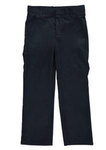Nautica Boys' Uniform Flat Front Pant Navy Big Boys SIZE 10 HUSKY