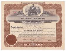 National Uplift Company Stock Certificate (Philadelphia)