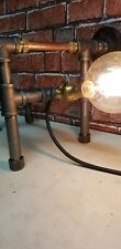 Steampunk  industrial Design table lamp.The bench press