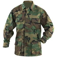 BDU SHIRT COAT CAMOUFLAGE 4 POCKETS BUTTON DOWN ARMY  SIZE 3XL