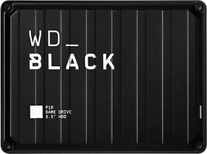 WD_BLACK 5 TB P10 Game Drive On The Go Console Or PC Compatible Potable Storage