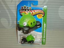 2012 HOT WHEELS  ''HW IMAGINATION''  #35 = ANGRY BIRDS  = GREEN MINION PIG