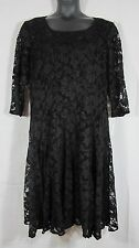 Chetta B Lace Overlay Little Black Dress Cocktail 2 Pieces Plus 22 W Made USA