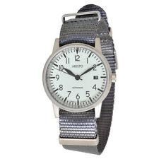 ARISTO Unisex Automatik Armbanduhr 3H41 Jäger 90 graunes Textilband 10ATM DP24