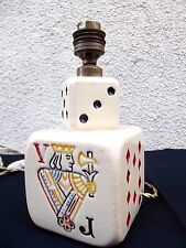 Ceramic Table Lamp VEGAS Vintage Mid Century Modern Sculptural 1950's