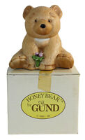 "Gund Ceramic Honey Bear Figurine 1980's Teddy Bear 5"" With Box & Numbered VHTF"