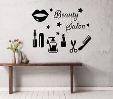 Wall Decals Beauty Salon Cosmetic Lips Decal Vinyl Sticker Beauty Salon MS646