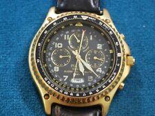 Vintage Pulsar N495 Gold Tone Pilot Chronograph Men's Watch -- For Repair /Parts