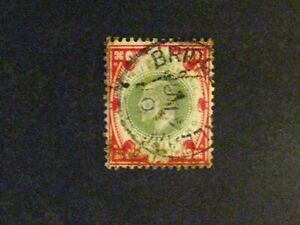 Great Britain #138de used scarlet and dull green/chalky paper a198.9382