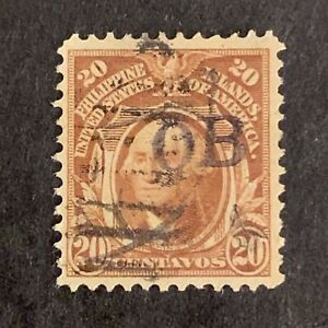 U2/96 US Philippines Stamp Scott 248 20c Official OB Ovpt UNH Back Small Fault