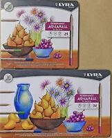 Lyra Rembrandt Aquarell Hi-Quality 24 or 36 piece pencils NEW 4mm diameter leads