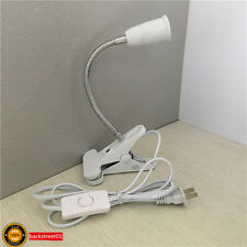 New CLIP GOOSENECK LED Table lamp Bendable steel E27 Base Adapter Lamp Holder