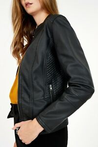 Soya concept faux leather AMALIE zip fronted Jacket
