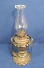 Vtg Antique Ship Swing Brass Gimble Oil Lamp Lantern Wall Mount Table Top Lot 1