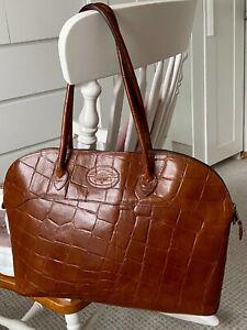 MULBERRY Shoulder Bag Large Congo Leather Brown  Damen Tasche Echtleder England