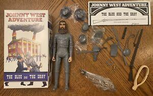 Marx Johnny West CXR Civil War Blue and Gray Rebel General James Longstreet